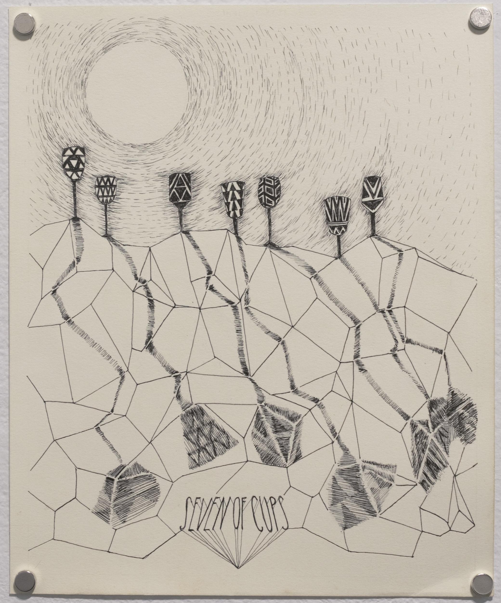 Seven of Cups (Black Moon Tarot)