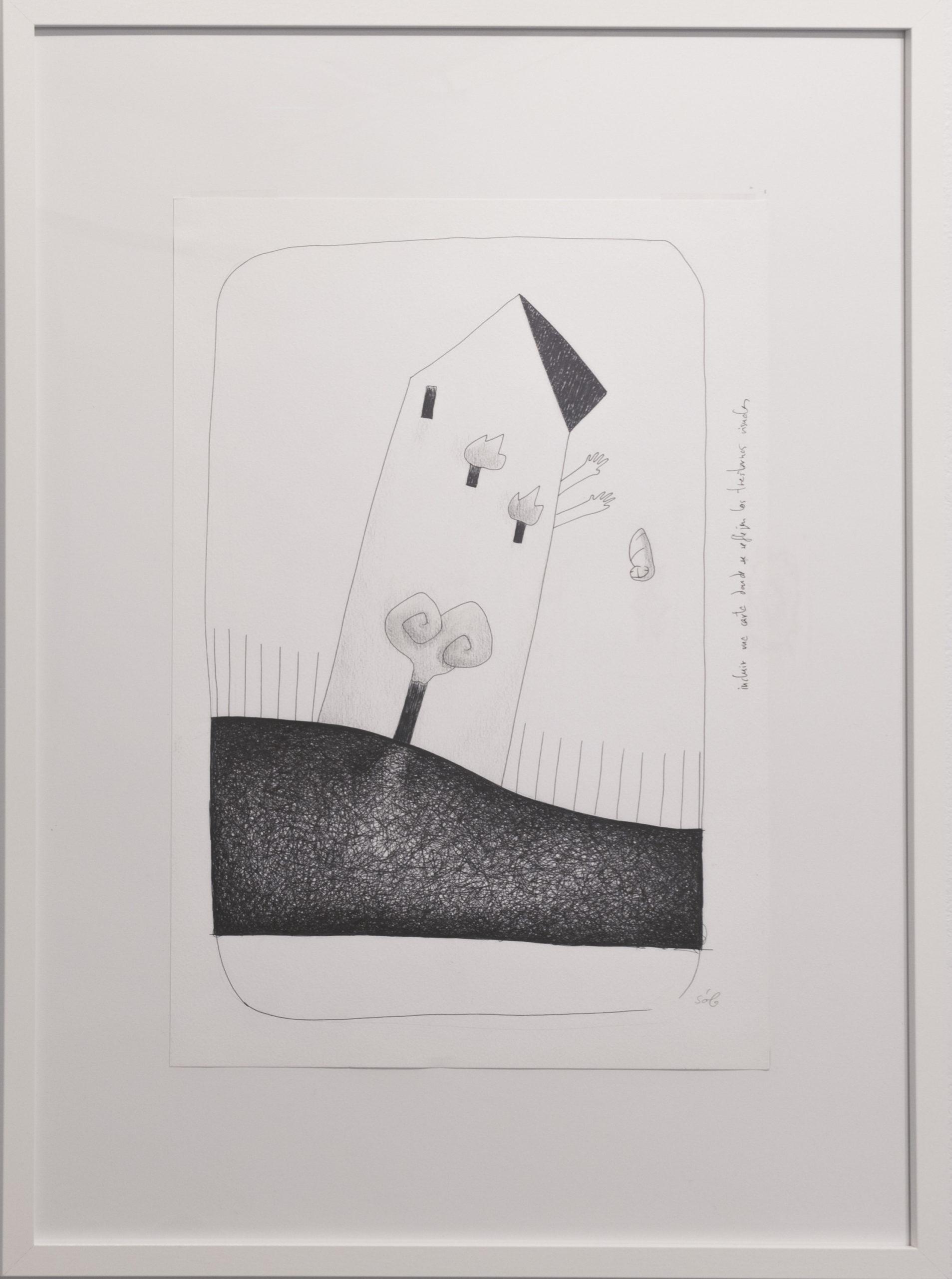 La Casa en Llamas | original sketch (Tarot de Laguna)