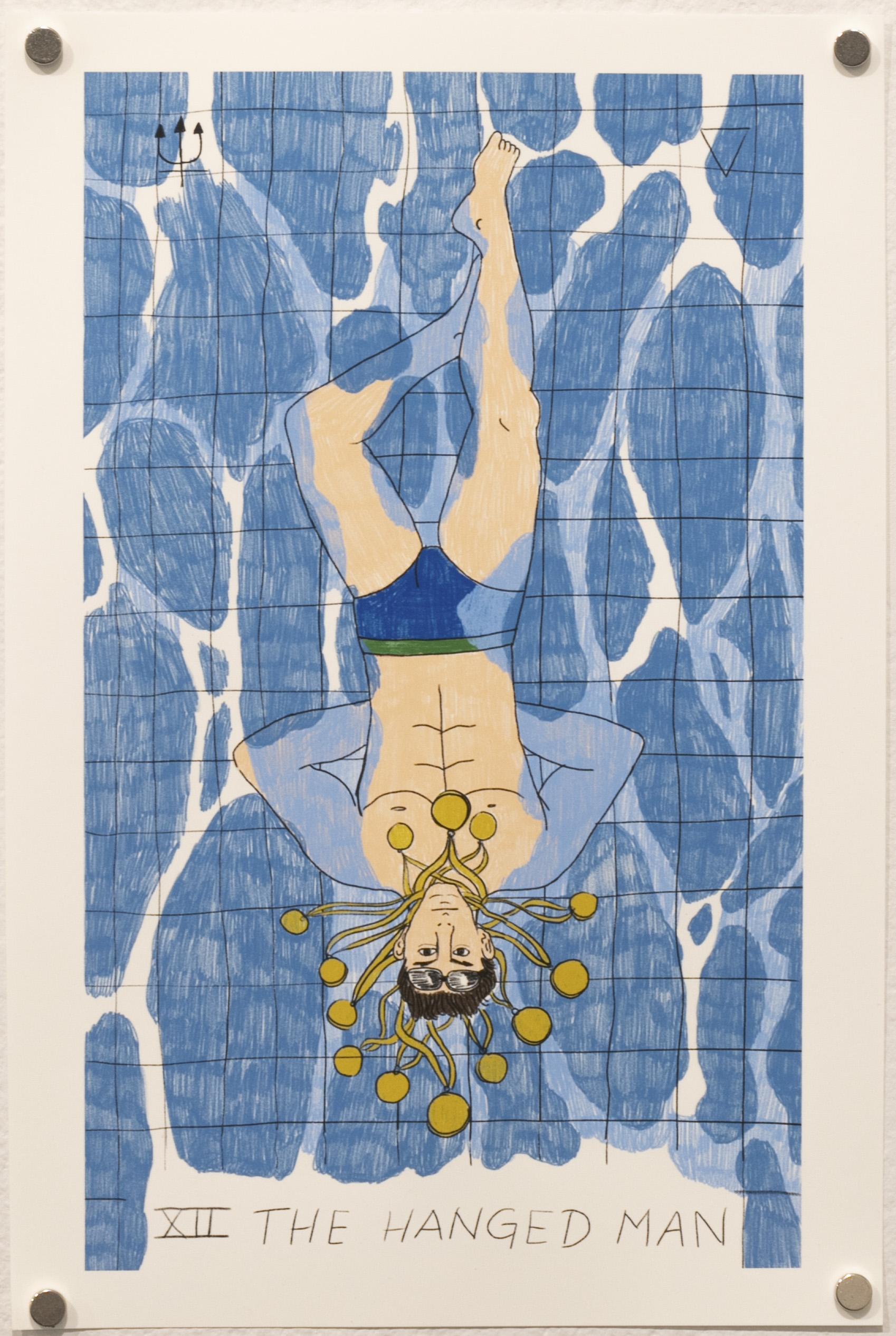 The Hanged Man - Michael Phelps (Charm City Tarot)