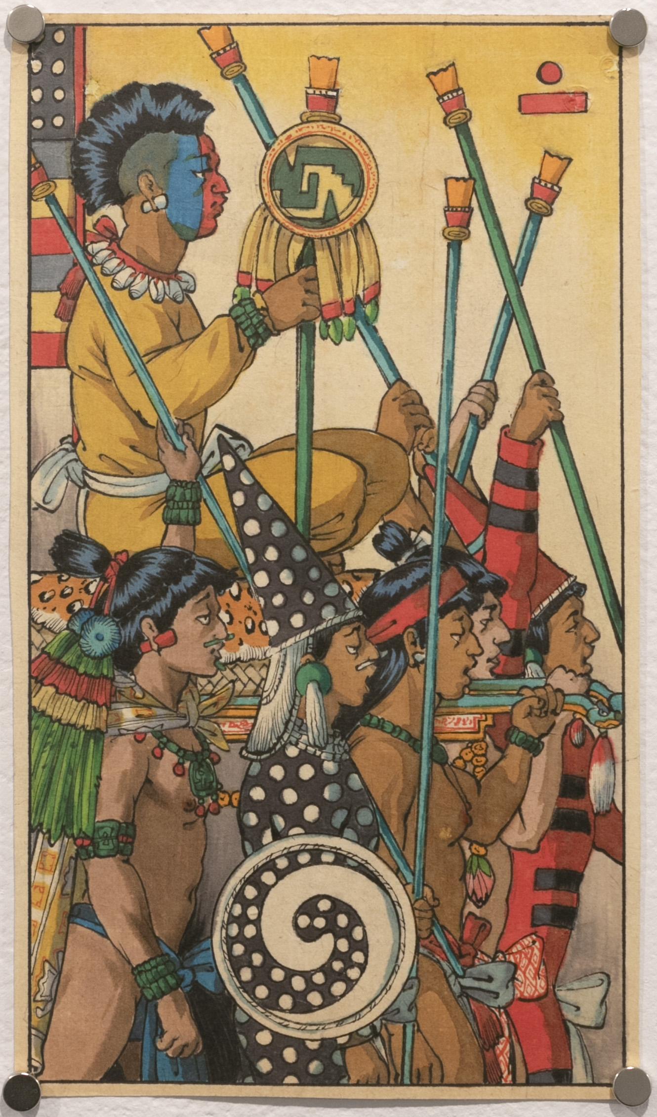 Chicuace Topilli, Six of Staffs (Tarot Mexicayotl)